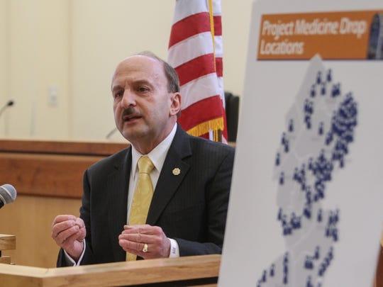 Ocean County Prosecutor Joseph D. Coronato on an official