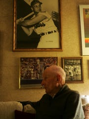 Former Cleveland Indian Al Rosen pictured at his home