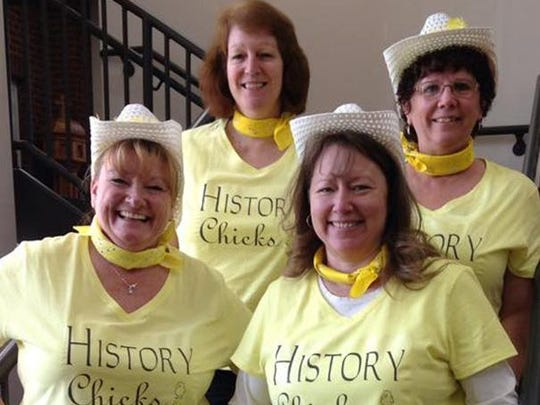 History Chicks winner of the best selfie category are: Sally Woller, from left, Laura Heller, Back Deb Roble and Cheryl Radloff.