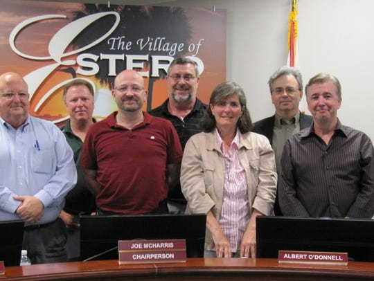 A file photo from 2018 of the then Design Review Board in Estero.