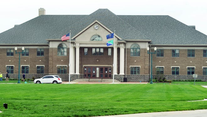 This is the Fishers City Hall. This is an iconic image from Fishers made on April 28, 2014.
