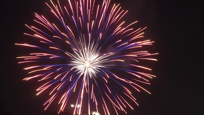 FILE: Fireworks will be launched at 9:15 p.m. Tuesday from 100 Whitesboro Street in Utica to mark New York State meeting a 70% vaccination rate.