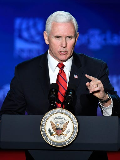 Vice President Mike Pence speaks to the National Religious