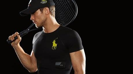 This Ralph Lauren Polo Tech sends fitness data to tablets or smart phones.
