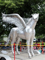 Pegasus, the winged-horse from Greek mythology.