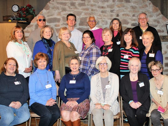 Rutgers Master Gardeners of Hunterdon County Class of 2018: (bottom row from left) Susan Kamich, Kathi Lewis, Constance Finch, Donna Arold, Madeline Neu, Sue Jenkin; (middle row from left) Ellen Lynch, Lynne Haberkern, Donna McCall, Jean Kusant, Karen Sherman, Cathy Pecka, Rosemary Seemon; (top row, from left) Steven Durek, Rob Hochenberger, Mary Schwenkler, Tonya Hallet andPatrick Conway. Not pictured: Judy Lynch.