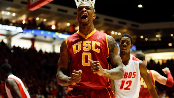 Southern California forward Darion Clark notched a double-double with 12 points and 11 rebounds.