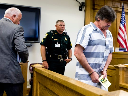 Michael Phillips enters the courtroom at the Hardee County Courthouse in Wauchula, Fla. Tuesday, July 12, 2016.