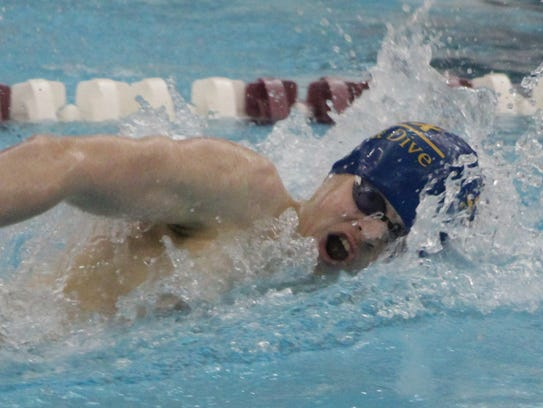 Trevor Jones and the Harrison-Farmington Phoenix swim