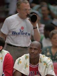 Robin Ficker, shown yelling at Michael Jordan in 1996,