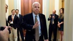 In this June 22, 2017, file photo Sen. John McCain,