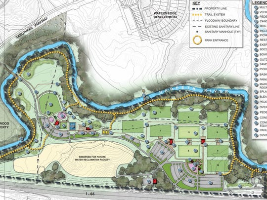 A new park in southeastern Franklin will have not only fields but playground equipment and areas for outdoor group exercise like yoga and CrossFit.