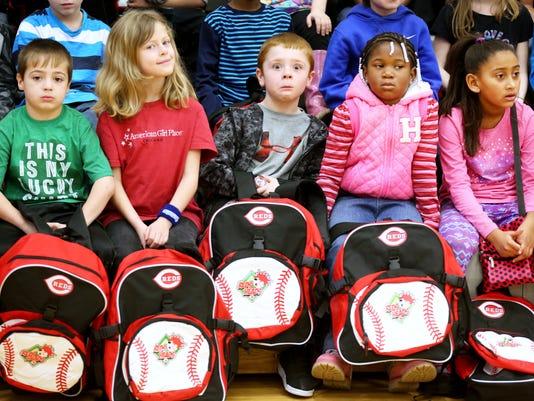 March 1, 2016. Oyler Community Learning Center, Cincinnati Reds, P & G, Volunteer, Playground, Mentoring,  Liz Dufour