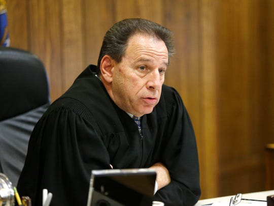 "Superior Court Judge Joseph Portelli speaks during the sentencing hearing forEdward G. Koloski in Paterson Thursday, June 23, 2016.   Koloski had earlier pled guilty to vehicular homicide, leaving the scene of a crash that results in death, and dwi in the accident that kiiled Javan ""Jay"" Robinson in Rockaway Township on Feb. 23, 2014."