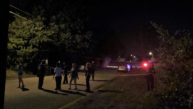 Family members arrive at the scene of a shooting in the 2400 block of Hardy Street on Monday night. Police confirmed a deceased victim. The shooting occurred just before 10:30 p.m. Hardy Street is two blocks east of Pine Street, near the Hardin-Simmons University campus.
