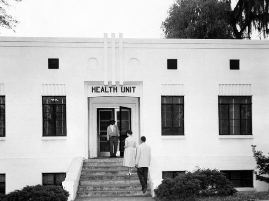 A two-story building on the corner of Gadsden and Gaines streets was the first permanent home of the Leon County Health Department.