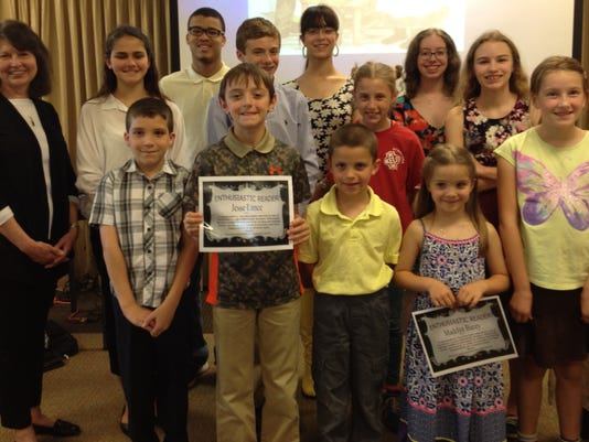 HCLA honors Enthusiastic Readers