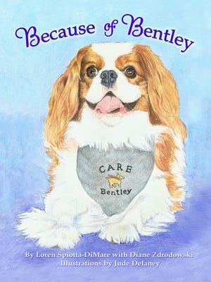 Because of Bentley is a non-fiction, pet therapy picture book for children.