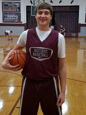Holy Cross basketball player Ethan Driskell