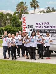 Vero Beach Wine + Film Festival organizers, from left,