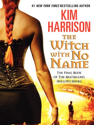 """Book cover of """"The Witch With No Name"""" by Kim Harrison."""
