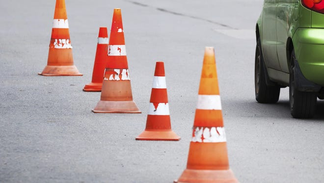 Roadwork will affect a westbound lane of Route 70 in Cherry Hill.