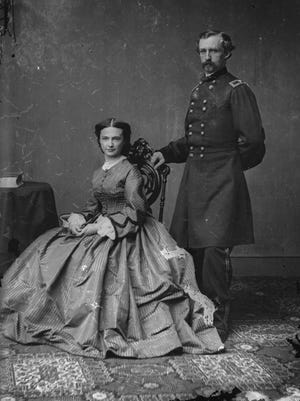 "Major General George Armstrong Custer and his wife Elizabeth ""Libbie,"" circa 1864."