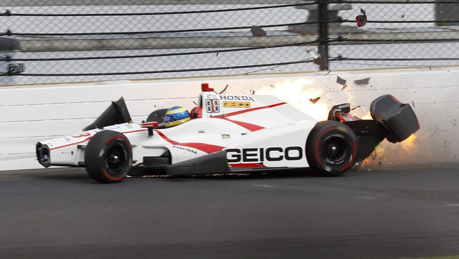Sebastien Bourdais struck a wall during qualifying for the Indianapolis 500 this year. He suffered a broken pelvis, but acknowledges that without numerous safety improvements over the years, such a crash could have been fatal.