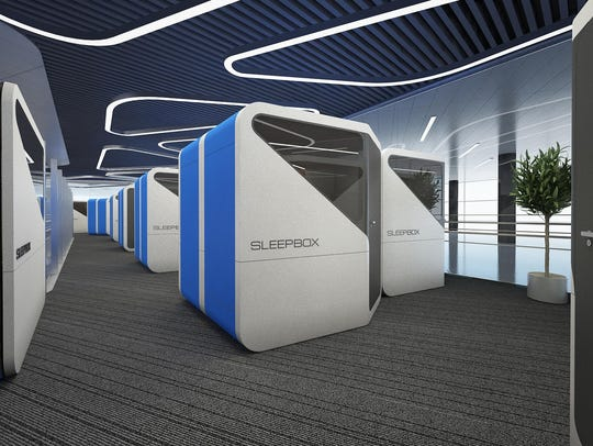 The self-contained, plug-in Sleepbox units are efficiently