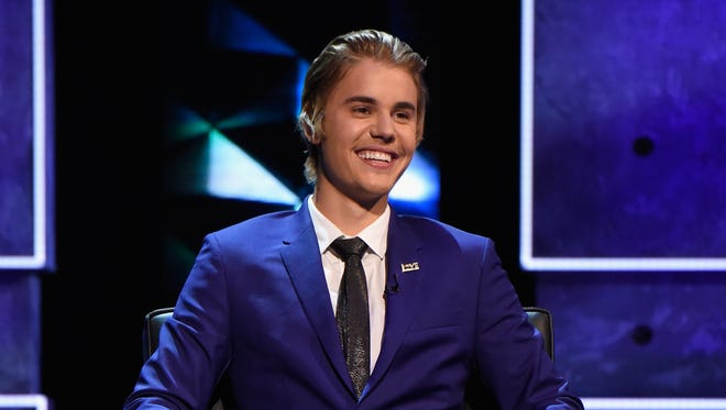 """Honoree Justin Bieber speaks onstage at the """"Comedy Central Roast of Justin Bieber."""""""