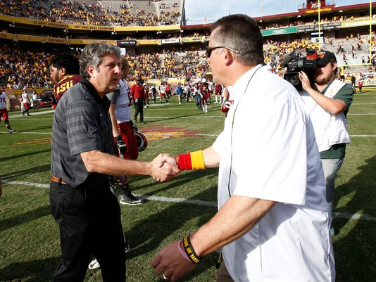 Todd Graham and Mike Leach