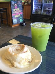 Restoratives Cafe is known for its fresh blended juices and cinnamon rolls.