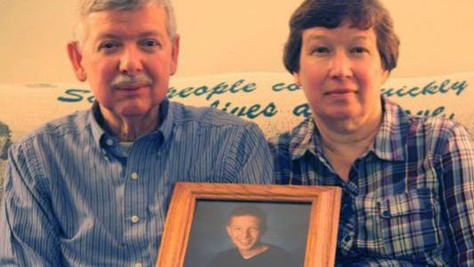 Doug and Jean Cox of Germantown, near Dayton, mourn their son, Steve. The 30-year-old died after a crash in the Rusty Wallace Racing Experience at Kentucky Speedway.