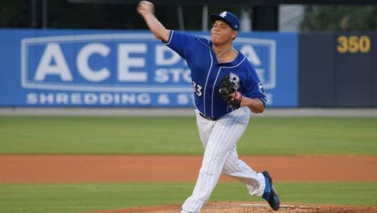 Biloxi pitcher Luis Ortiz is considered one of the top prospects in the Brewers organization.