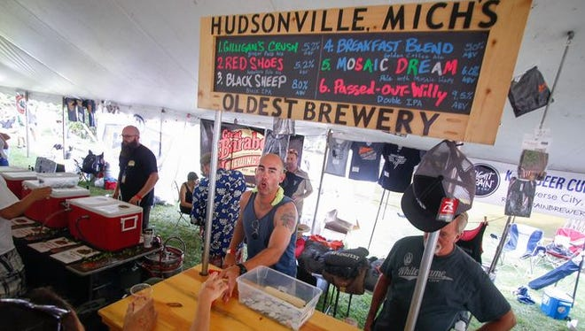 This writer's favorite beer from the Michigan Summer Beer Festival was brewed by White Flame Brewing Co. of Hudsonville.