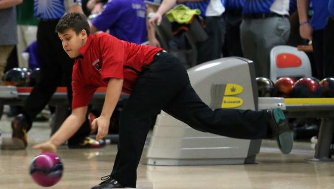 Woodbridge's James Stoveken competes at the NJSIAA Team Bowling Championships on Feb. 19, 2016.