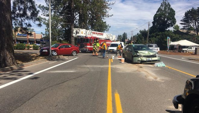 A multi-vehicle traffic created traffic delays on Commercial Street SE Monday morning.