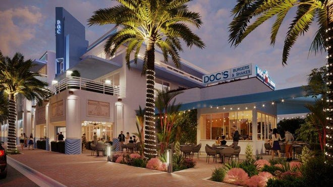 Doc's Place in Delray Beach will be gutted and renovated to include a new kitchen while its exterior look will be preserved. An extended awning will allow for more outside dining.