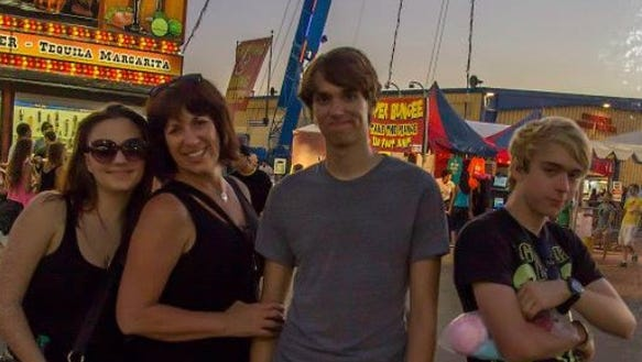 Searching for the broncho at the Arizona State Fair.