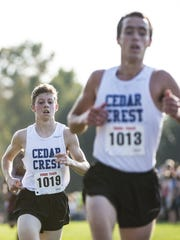 Cedar Crest's Adam Wolfe (back) figures to be one of