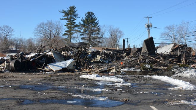 The Rustic Crust factory in Pittsfield, N.H., after it was destroyed by a fire in March.