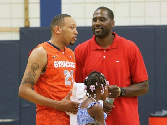From left, Former Peekskill and Syracuse star Mookie
