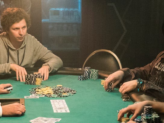 "Michael Cera and Jeremy Strong star in ""Molly's Game."""