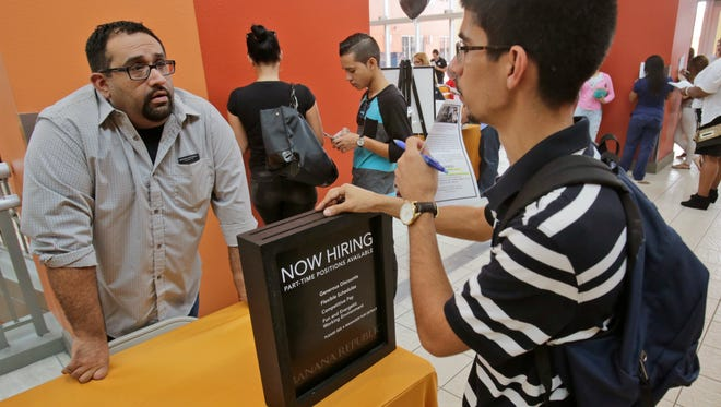 Job fairs have been busy for most of this year as hiring picked up.