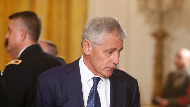 Defense Secretary Chuck Hagel after White House Medal of Honor ceremony on Oct. 15.
