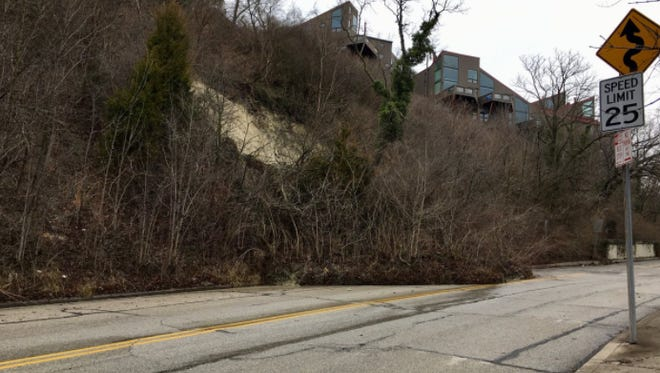 A landslide in Mount Adams was brought on by heavy rains Sunday, Feb. 25, 2018.
