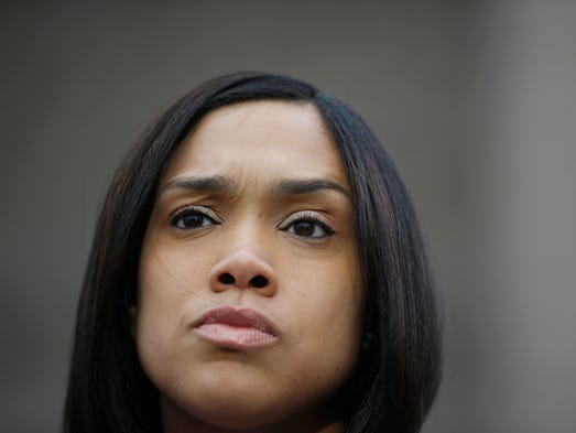 Marilyn Mosby, Baltimore state's attorney, addresses