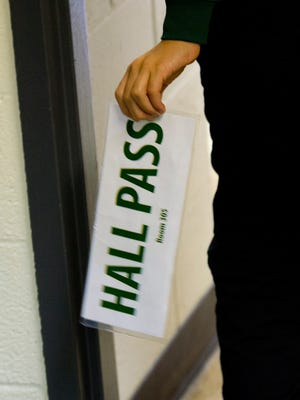 No student goes anywhere without a hall pass at this New York charter school.