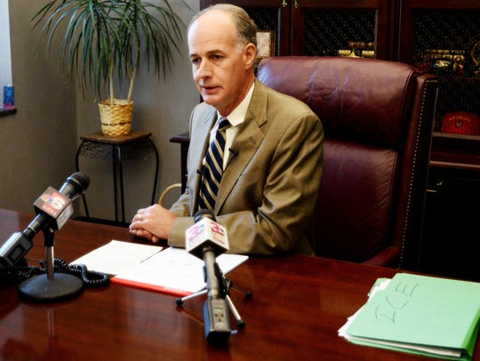Bossier Parish Sheriff Julian Whittington talks to