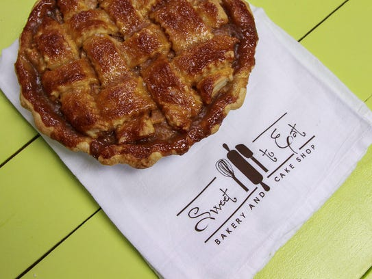 Salted Caramel Apple Pie by Sweet to Eat Bakery and